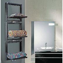 Sèche-serviettes TRIS eau chaude 941 W étendoirs abaissés et 818 W étendoirs relevés