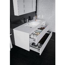 plan de toilette all day 120 cm vasque centr e en c ramique alterna sanitaire brossette. Black Bedroom Furniture Sets. Home Design Ideas