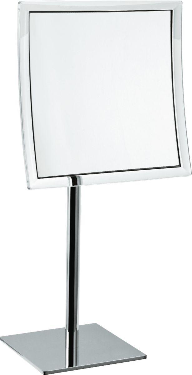 Miroir grossissant carré, à poser, L 20 cm