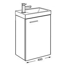 meuble lave mains woodstock 1 porte fuschia 40 cm alterna sanitaire cedeo. Black Bedroom Furniture Sets. Home Design Ideas