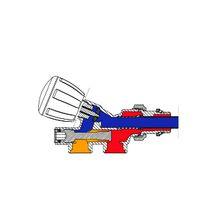 Robinet monotube 4 voies thermostatisable avec sonde plastique r437n 1 2 x16 giacomini - Giacomini robinet thermostatique ...
