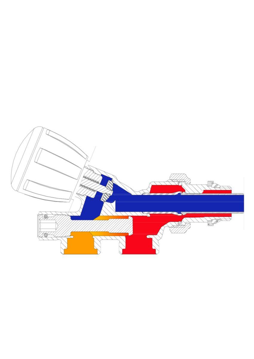 Robinet Monotube A 4 Voies Thermostatisable Avec Sonde Plastique