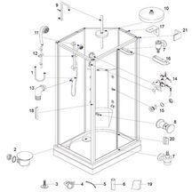barre de douche curseur pour cabine seducta alterna pi ces de rechange cedeo. Black Bedroom Furniture Sets. Home Design Ideas