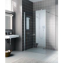 Paroi Fixe Posée Seule Walk In Shower XB WIW 12020 VPR Argent Poli Verre