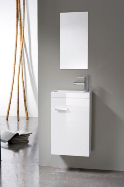 Meuble lave-mains 1 porte, 40 cm WOODSTOCK Laqué blanc