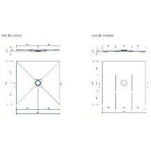 receveur de douche de plain pied coulement centr carreler wedi fundo ligno 1500x1500 mm. Black Bedroom Furniture Sets. Home Design Ideas