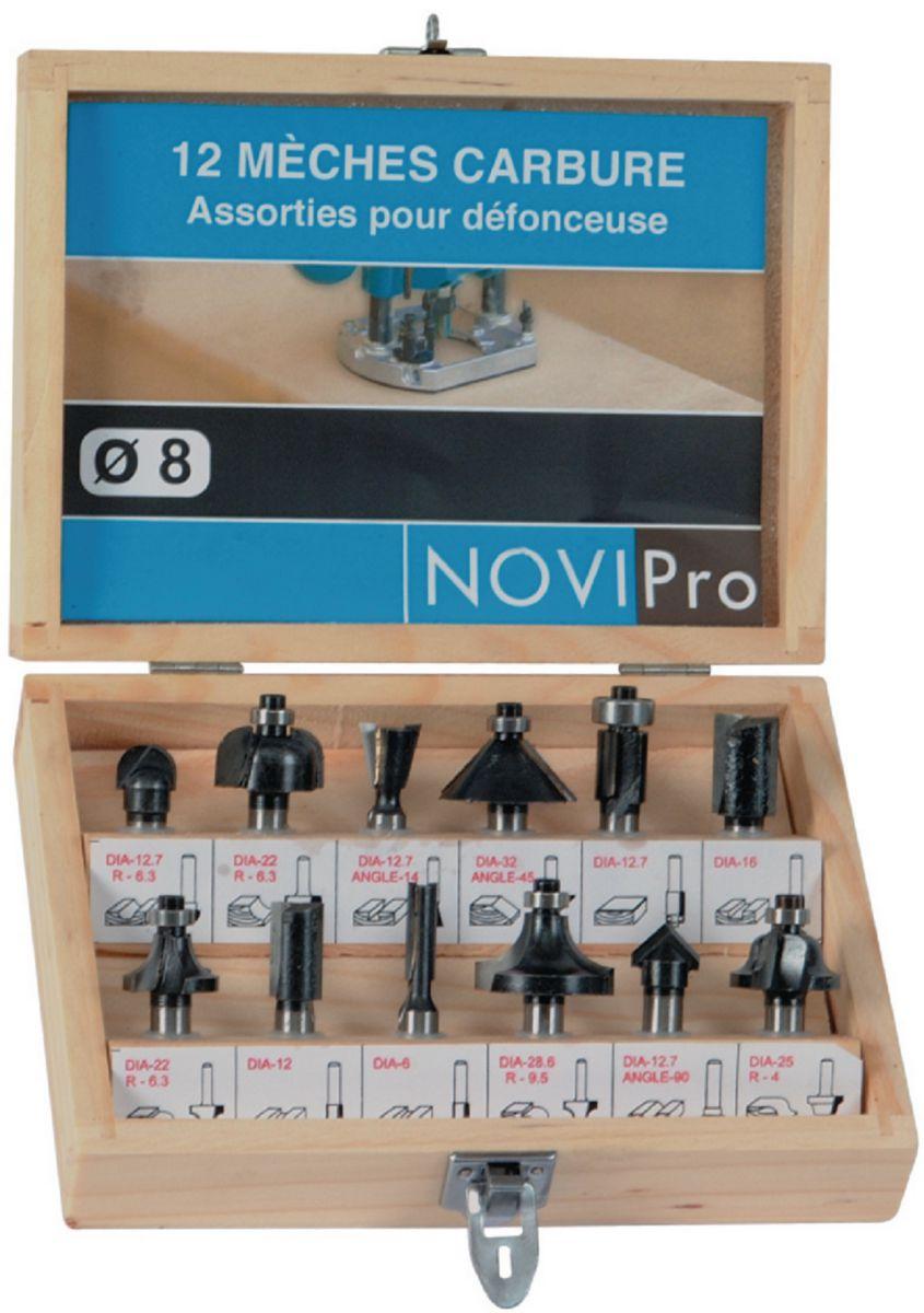 Mèches de défonceuse (coffret de 12) Novipro