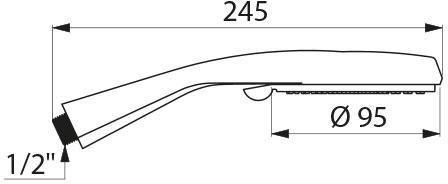Douchette mâle 15 x 21 4 jets chromé anti-calcaire : réf. 813