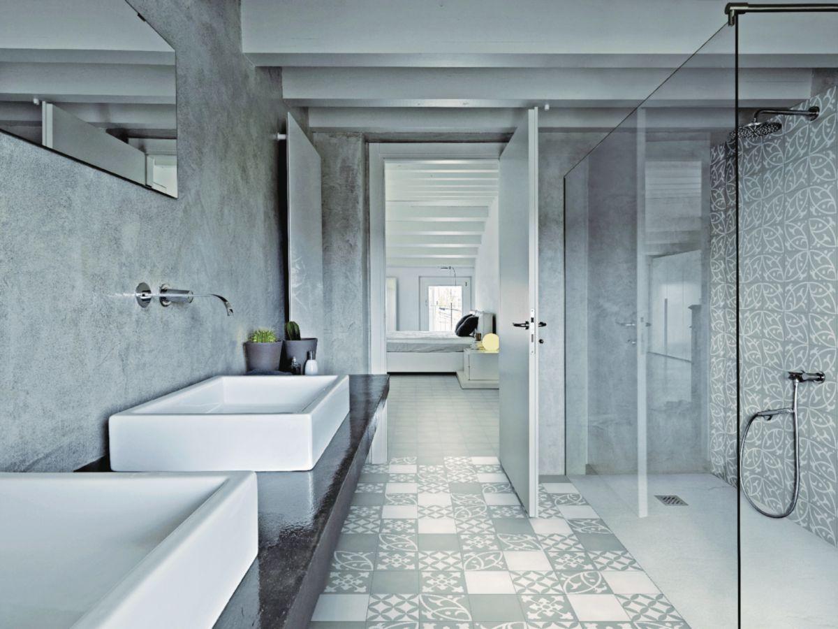 carreau sol int rieur ciment cibl02 blanc cass 20x20 cm envie de salle de bain. Black Bedroom Furniture Sets. Home Design Ideas