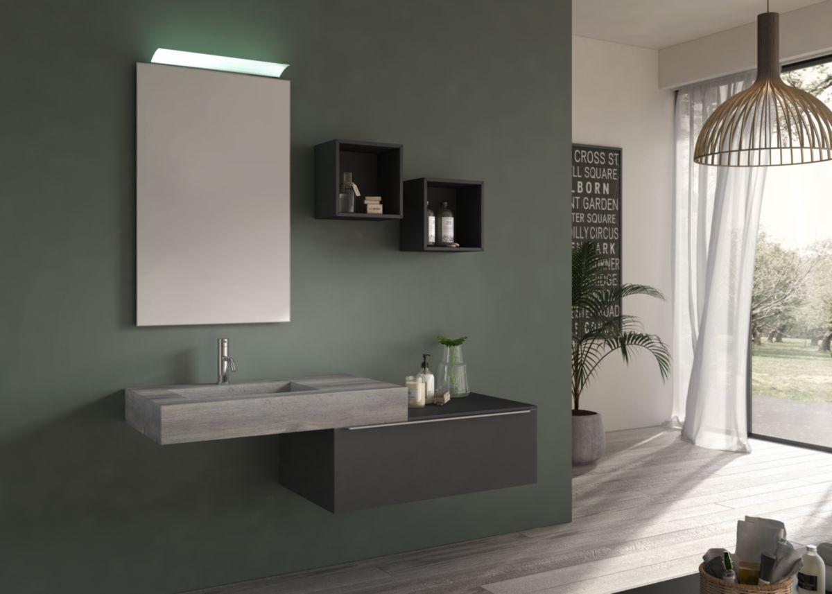 Liyan minimaliste applique murale bougeoir e base miroir bois