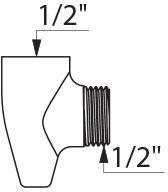Raccord anti-stagnation FM15x21 pour vidange automatique du flexible et robinetterie, corps en laiton massif chromé avec purge en aval Réf 8