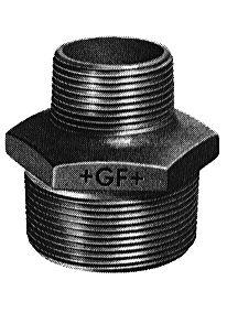 Mamelon réduit n° 245 fonte malléable galvanisé male-male diamètre 15x12 Réf. 24505032