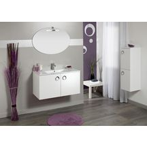 Meuble sous-vasque SEDUCTA 60 cm, 2 portes, blanc brillant
