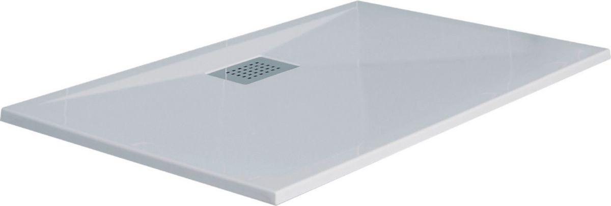 Good Receveur Extra Plat 100X80 #8: Receveur Ultra-plat à Encastrer KINESURF, 100x80 Cm, Livré Avec Bonde Extra-plate,  Blanc Réf RD524 - KINEDO DOUCHE - Sanitaire -CEDEO