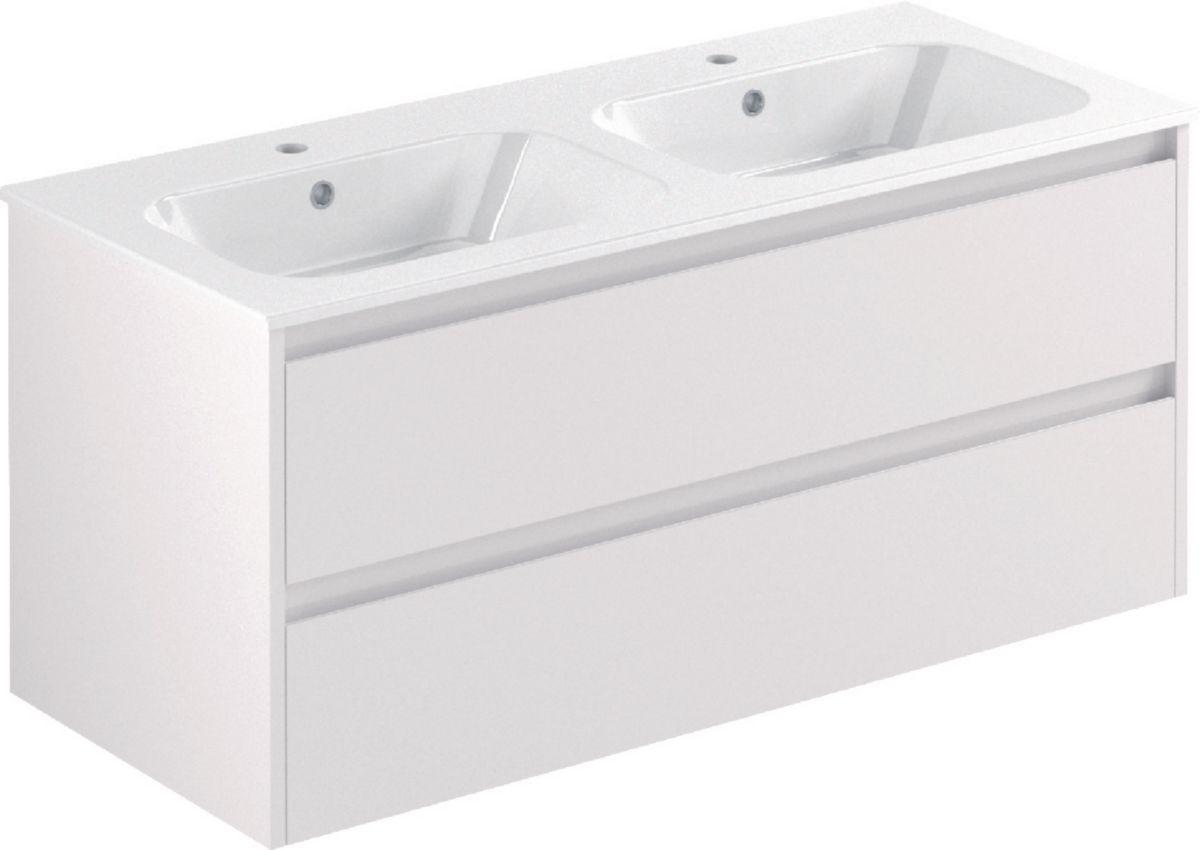 meuble all day sous vasque 120 cm double vasque alterna. Black Bedroom Furniture Sets. Home Design Ideas