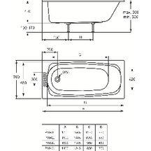 baignoire encastrer ulysse 2 150x70cm blanc r f. Black Bedroom Furniture Sets. Home Design Ideas
