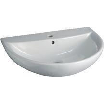 Atum Home Lavabo de salle de bain ovale en c/éramique Blanc 0882