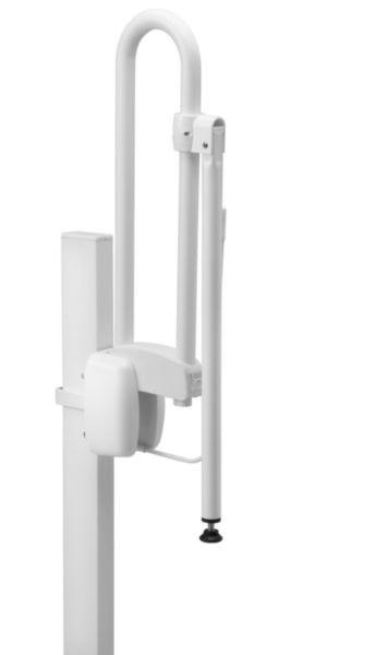 Béquille de soutien pour barre d'appui relevable aluminium époxy blanche 048810