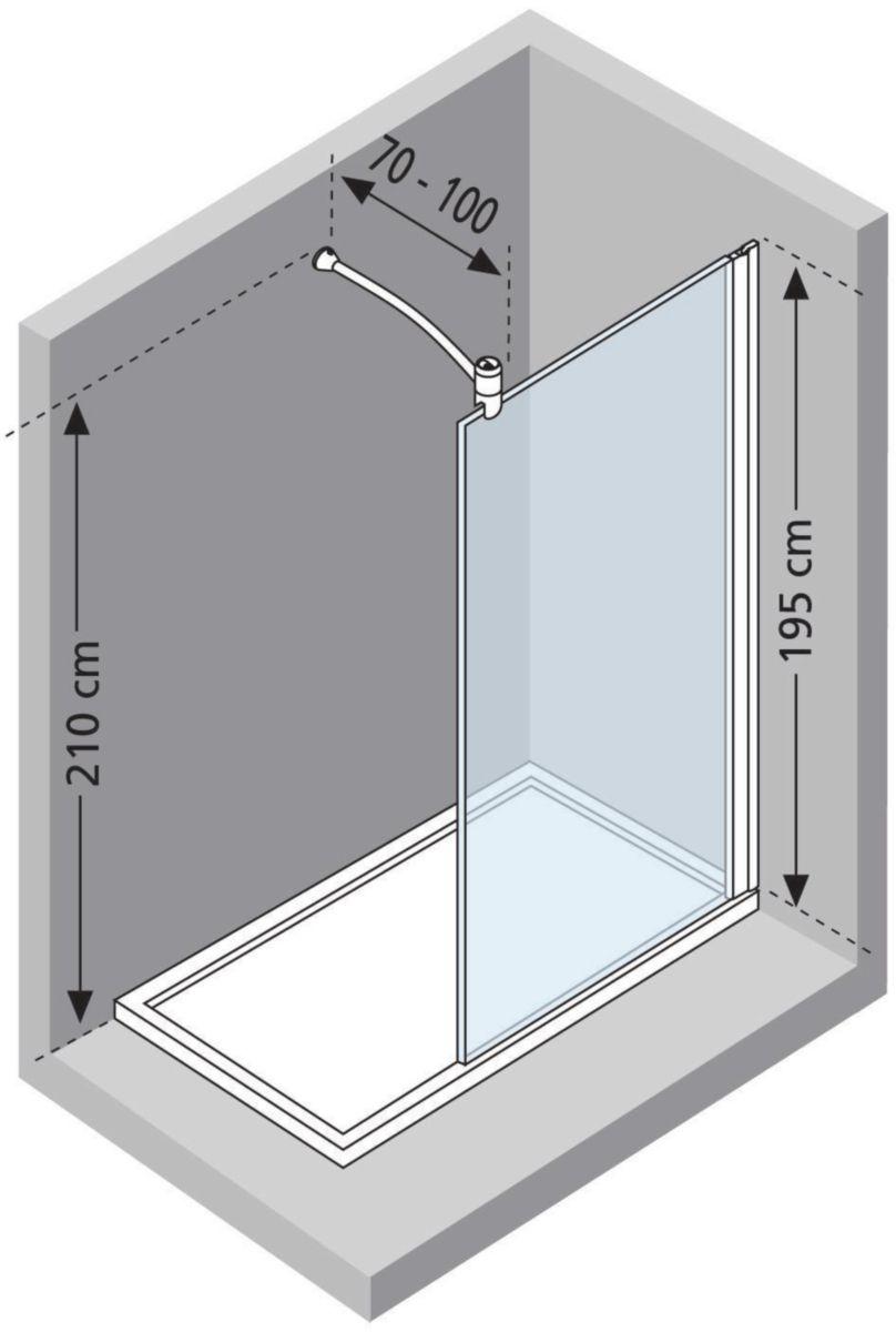 novellini paroi de douche lunes h 110 cm extensible 107. Black Bedroom Furniture Sets. Home Design Ideas