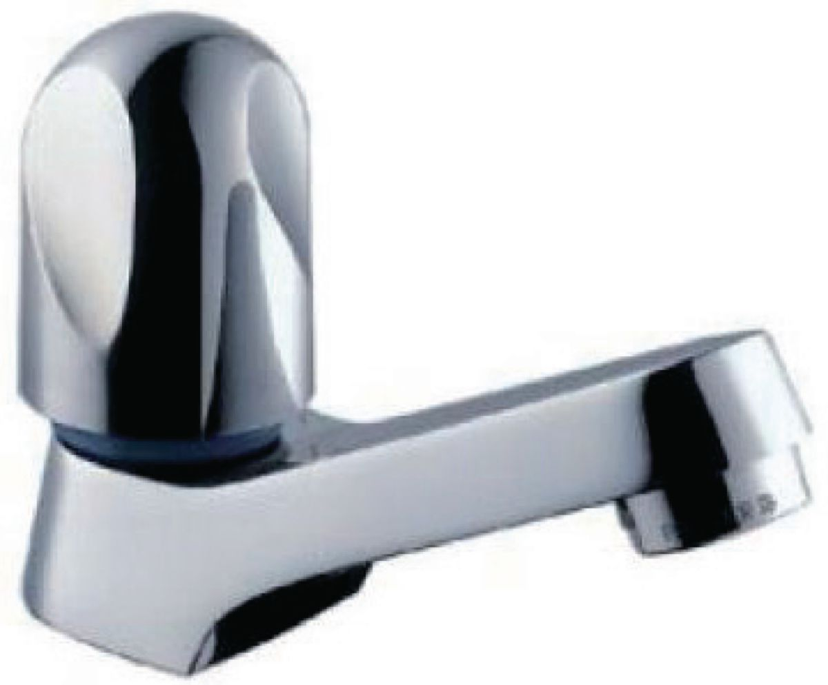 Robinet ind pendant pour lavabo ou lave mains galeo eau froide t te c ramique poign e m tal sans - Robinet eau froide pour lave main ...