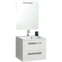 Meuble sous vasque seducta 60 cm 2 tiroirs blanc for Miroir alterna seducta 90