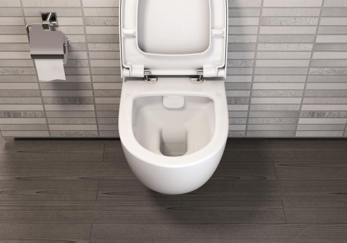 ... Pack WC suspendu Daily O2 courte sans bride avec abattant recouvrant  Slim frein de chute déclipsable ... bd27928f1eca
