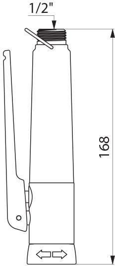 Douchette de cuisine mâle 15 x 21 à jet réglable, en laiton massif chromé : réf. 433000