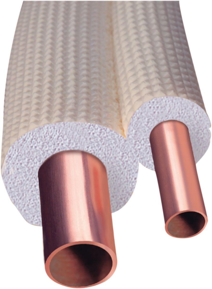 Tube cuivre Talos Ecutherm recuit gainé diamètre : 22X1mm couronne de 25m réf TUECUSANPEX2522