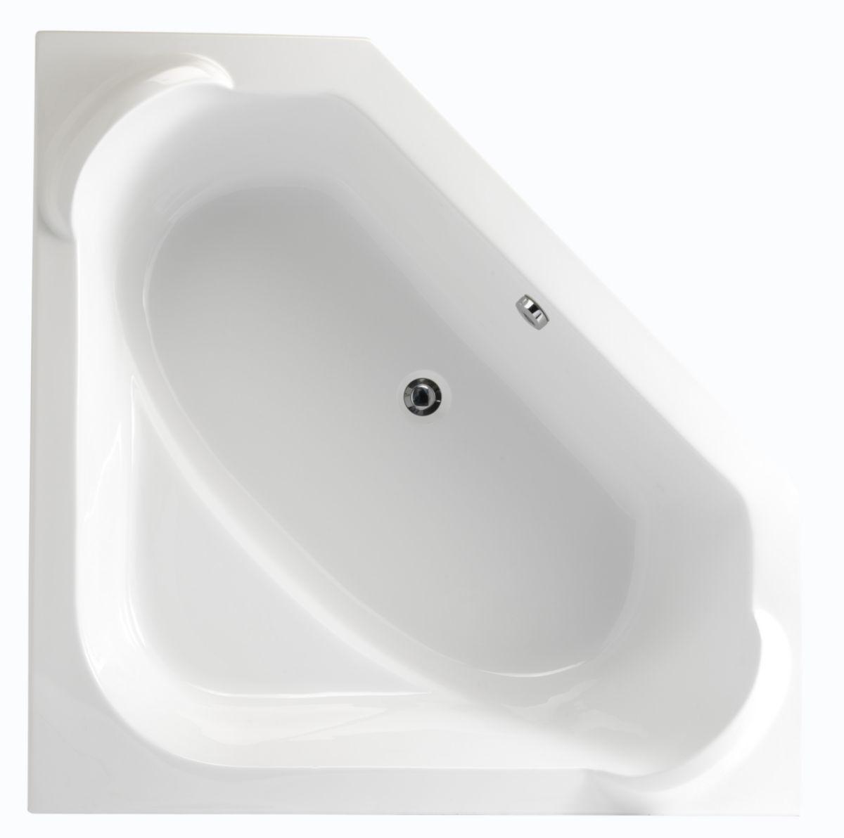 baignoire d 39 angle concerto 140x140 cm blanc acrylique r f p015501 alterna. Black Bedroom Furniture Sets. Home Design Ideas