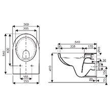 Pack wc suspendu avec abattant fermeture standard blanc r f 08398300000200 allia - Abattant wc taille non standard ...