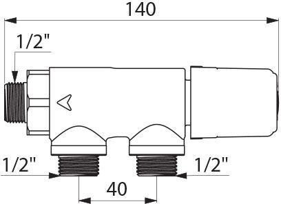 Régulateur thermostatique Premix compact mâle 15 x 21 clapets anti-retour incorporés : réf. 733015