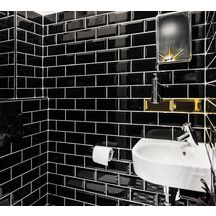 fa ence diffusion c ramique m tro noir n 32 brillant 7 5x15cm meb7515c32 diffusion ceramique. Black Bedroom Furniture Sets. Home Design Ideas