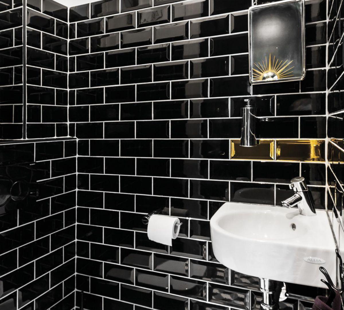 Fa Ence Diffusion C Ramique M Tro Noir N 32 Brillant 7 5x15cm