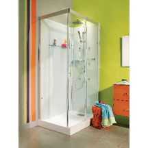 cabine de douche domino compl te rectangulaire 110 x 80 cm version confort alterna. Black Bedroom Furniture Sets. Home Design Ideas
