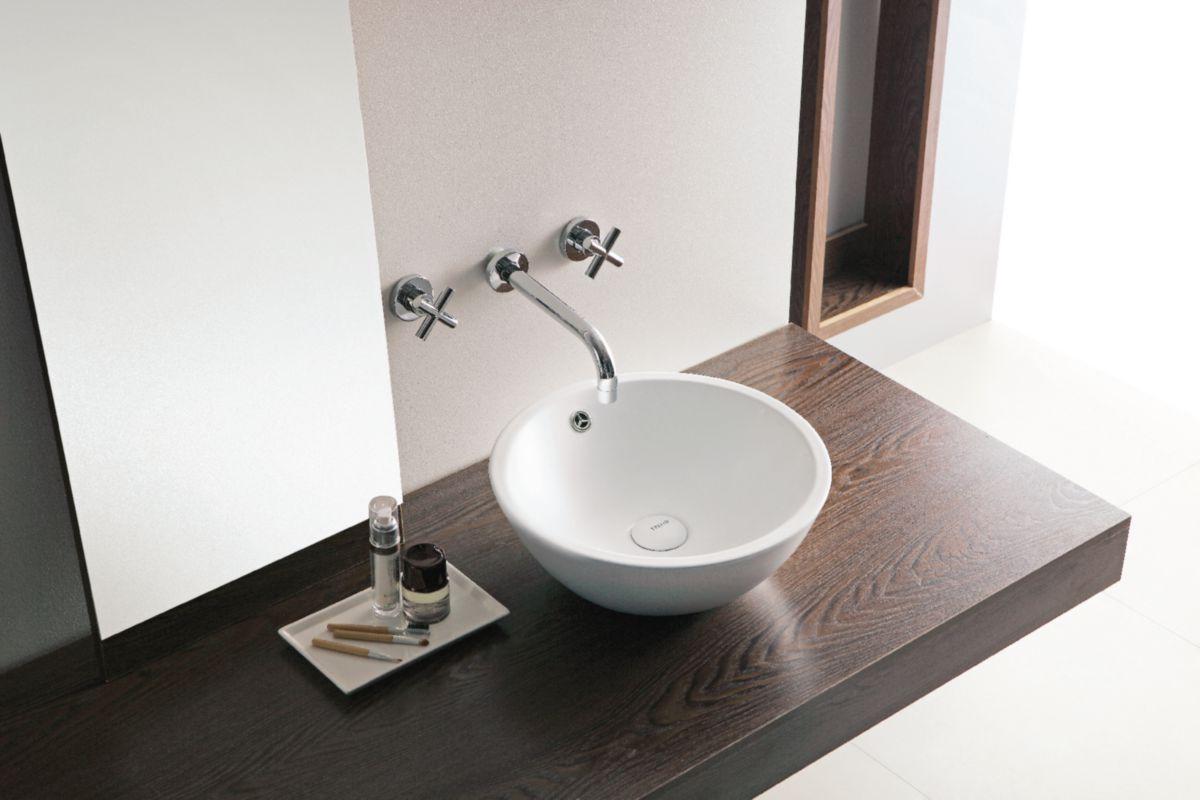 alterna vasque poser seducta ronde d 39 5 cm avec trou de trop plein cedeo. Black Bedroom Furniture Sets. Home Design Ideas