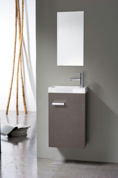 meuble lave mains 1 porte 40 cm woodstock tissu gris fonc