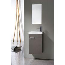 Meuble lave-mains 1 porte, 40 cm WOODSTOCK Tissu gris foncé