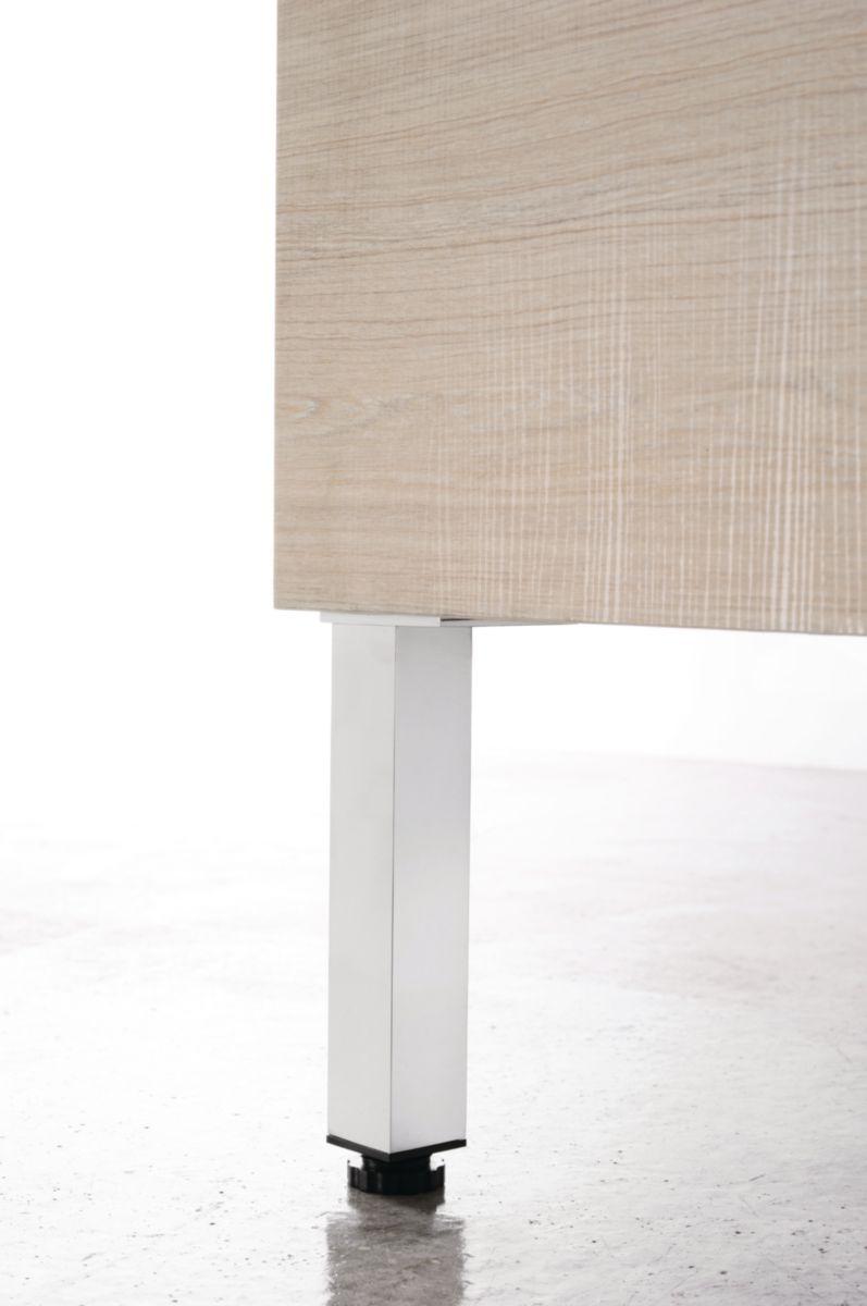 Accessoire Salle De Bain Brossette ~ pieds r glables 2 cm x2 woodstock chrom brillant alterna