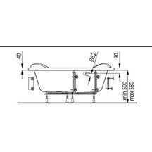 Baignoire d 39 angle concerto 140x140 cm blanc acrylique for Hauteur d une baignoire d angle