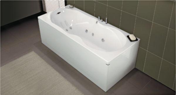 Baignoire balnéo ERGONOMIQUE système VITALITE, rectangulaire L 180 x l.80 cm