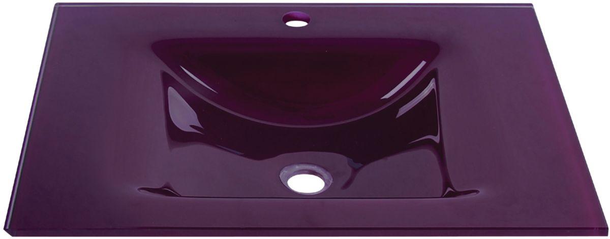 alterna plan seducta 61 cm vasque simple sans trop plein aubergine cedeo. Black Bedroom Furniture Sets. Home Design Ideas