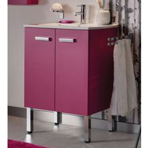 Meuble woodstock 2 portes fuschia 60 cm alterna for Meuble woodstock