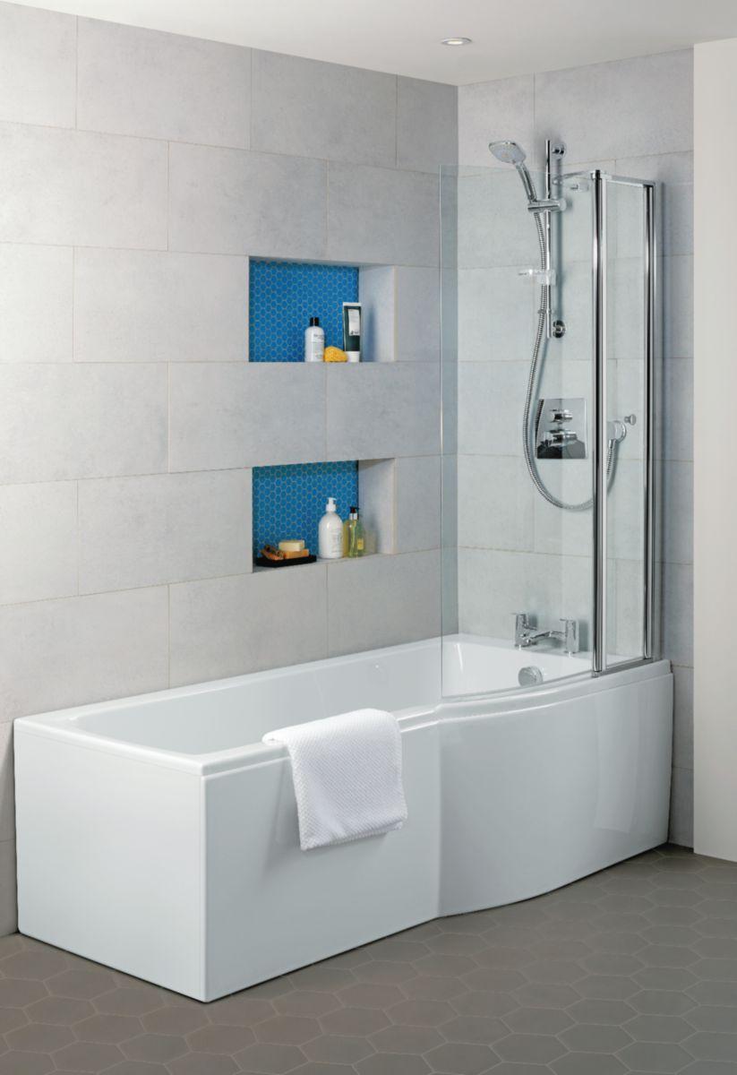 ideal standard baignoire douche asym trique gauche. Black Bedroom Furniture Sets. Home Design Ideas