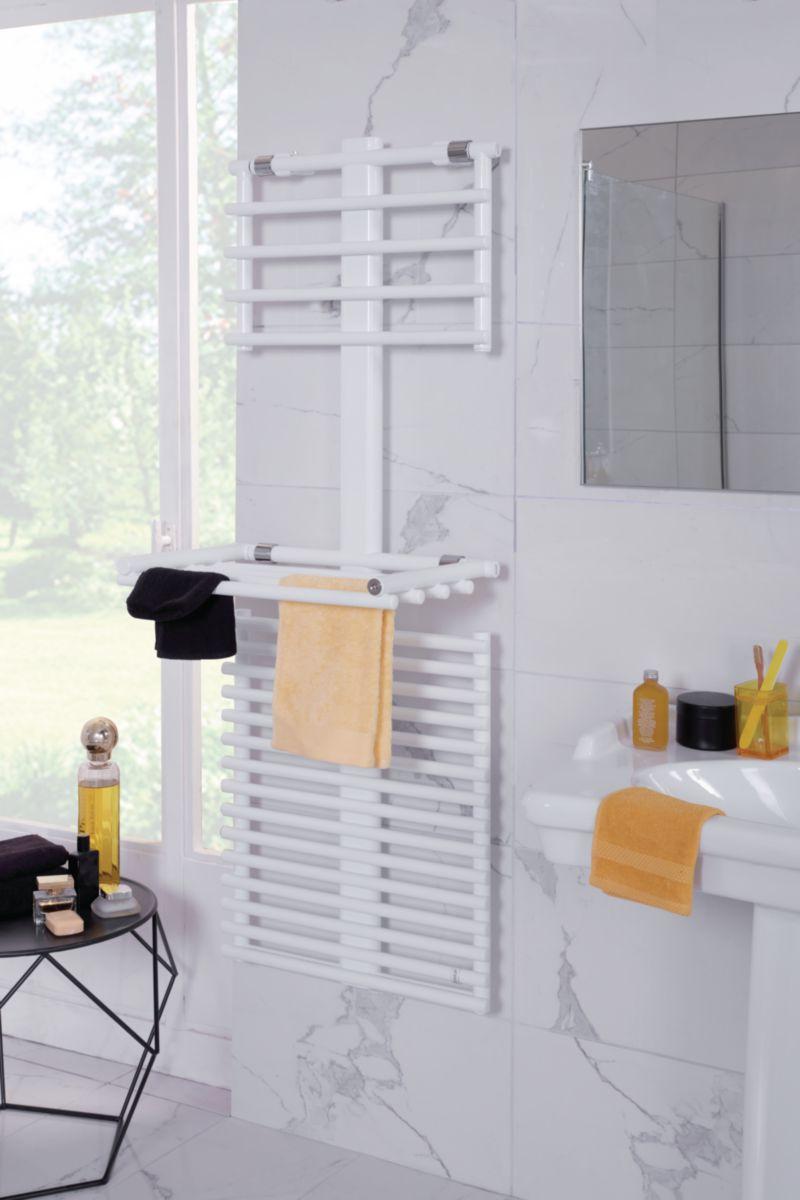Sèche-serviettes STAND UP eau chaude 710 W étendoir ouvert, 630 W étendoir fermé