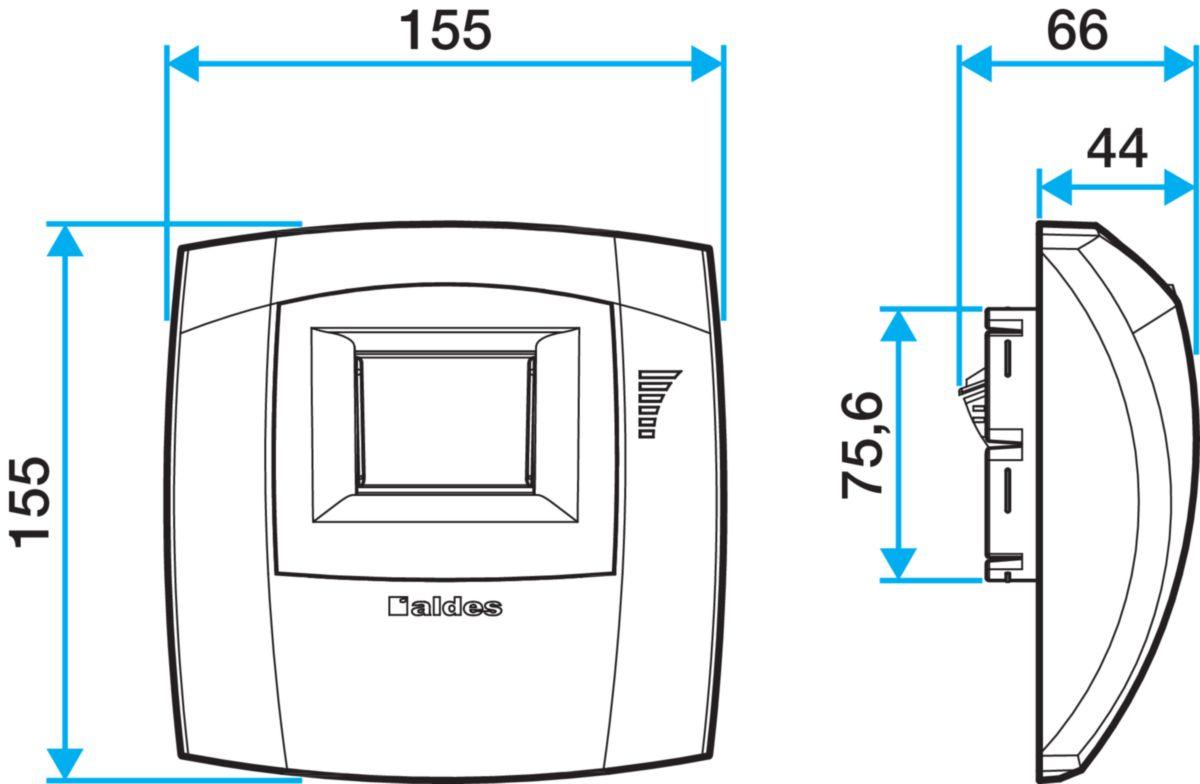 Ventilation individuelle Simple Flux KIT BAHIA OPTIMA micro-watt Réf. KIT BAHIA CURVE CELLIER B11 11033662