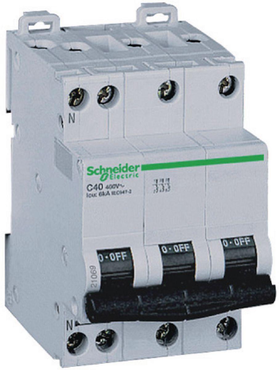 Disjoncteur DT40N 3P+N 10 ampères D A9N21415