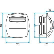 bouche d 39 extraction autor glable simple d bit bap 39 si diam tre 125 15 m3 h r f 11019003. Black Bedroom Furniture Sets. Home Design Ideas