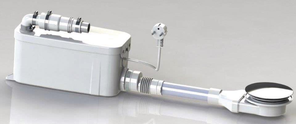 pompe de relevage vd90 pour receveur de douche extra plat avec bonde r f pfbavd90 watermatic. Black Bedroom Furniture Sets. Home Design Ideas