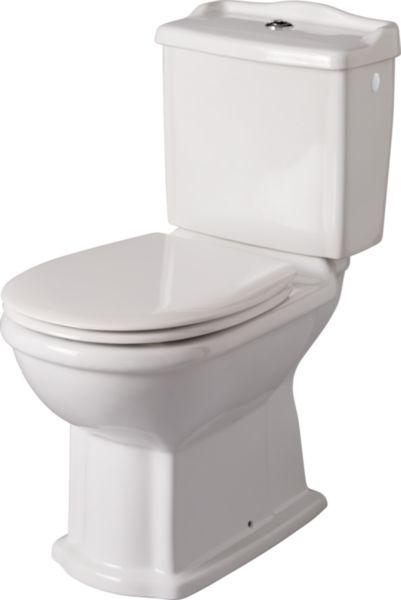 Pack WC cuvette et réservoir Antica sans abattant blanc