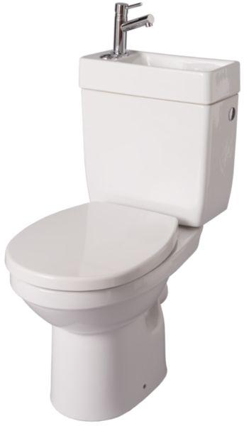 Pack WC avec Lave-mains intégré DOPPIO 2 blanc